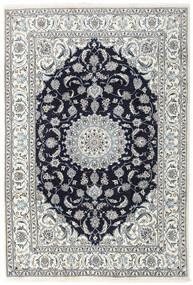 Nain Alfombra 196X290 Oriental Hecha A Mano Gris Claro/Púrpura Oscuro (Lana, Persia/Irán)