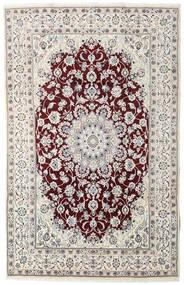 Nain Alfombra 194X305 Oriental Hecha A Mano Gris Claro/Marrón Oscuro (Lana, Persia/Irán)