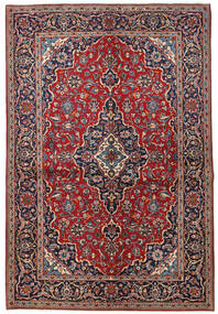 Keshan Alfombra 149X223 Oriental Hecha A Mano Rojo Oscuro/Púrpura Oscuro (Lana, Persia/Irán)
