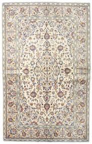 Keshan Alfombra 140X218 Oriental Hecha A Mano Gris Claro/Beige (Lana, Persia/Irán)