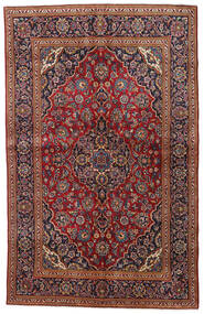 Keshan Alfombra 135X212 Oriental Hecha A Mano Rojo Oscuro/Negro (Lana, Persia/Irán)