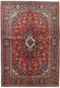 Keshan Alfombra 147X215 Oriental Hecha A Mano Rojo Oscuro/Púrpura Oscuro (Lana, Persia/Irán)