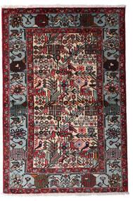 Hamadan Alfombra 100X150 Oriental Hecha A Mano Negro/Rojo Oscuro (Lana, Persia/Irán)