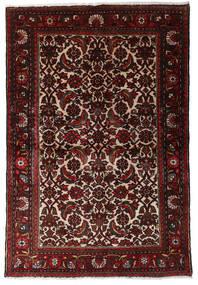 Hamadan Alfombra 98X147 Oriental Hecha A Mano Rojo Oscuro/Marrón Oscuro (Lana, Persia/Irán)