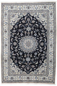 Nain Alfombra 197X290 Oriental Hecha A Mano Gris Claro/Gris Oscuro (Lana, Persia/Irán)