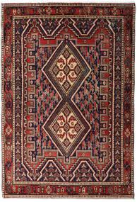 Afshar Shahre Babak Alfombra 125X182 Oriental Hecha A Mano Rojo Oscuro/Marrón Oscuro (Lana, Persia/Irán)