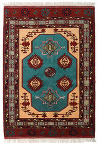 Turkaman Alfombra 138X193 Oriental Hecha A Mano Rojo Oscuro (Lana, Persia/Irán)