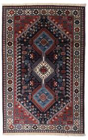 Yalameh Alfombra 79X124 Oriental Hecha A Mano Púrpura Oscuro/Gris Oscuro/Rojo Oscuro (Lana, Persia/Irán)