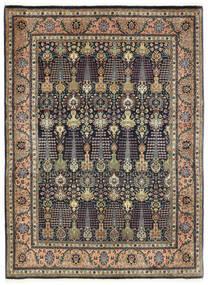Tabriz 50 Raj Alfombra 150X198 Oriental Hecha A Mano Gris Oscuro/Azul Oscuro (Lana, Persia/Irán)