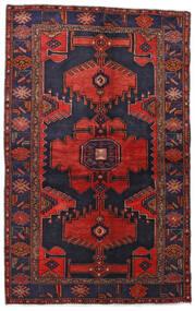 Hamadan Alfombra 132X211 Oriental Hecha A Mano Púrpura Oscuro/Rojo Oscuro (Lana, Persia/Irán)