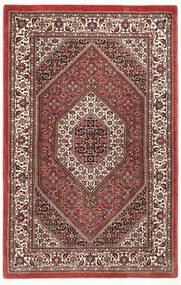 Bidjar Con Seda Alfombra 95X148 Oriental Hecha A Mano Rojo Oscuro/Marrón Oscuro (Lana/Seda, Persia/Irán)