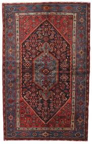 Hamadan Alfombra 140X222 Oriental Hecha A Mano Rojo Oscuro/Negro (Lana, Persia/Irán)