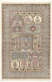 Ilam Sherkat Farsh De Seda Alfombra 148X223 Oriental Hecha A Mano Gris Claro/Beige (Lana/Seda, Persia/Irán)