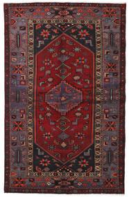 Hamadan Alfombra 136X214 Oriental Hecha A Mano Rojo Oscuro/Negro (Lana, Persia/Irán)