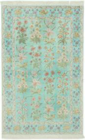 Ghom De Seda Alfombra 102X160 Oriental Hecha A Mano Verde Pastel/Gris Claro (Seda, Persia/Irán)