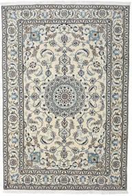 Nain Alfombra 195X284 Oriental Hecha A Mano Gris Claro/Gris Oscuro (Lana, Persia/Irán)