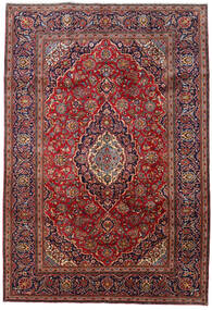 Keshan Alfombra 201X296 Oriental Hecha A Mano Rojo Oscuro/Azul Oscuro (Lana, Persia/Irán)