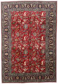 Tabriz Alfombra 203X295 Oriental Hecha A Mano Rojo Oscuro/Negro (Lana, Persia/Irán)