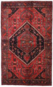Hamadan Alfombra 138X225 Oriental Hecha A Mano Rojo Oscuro/Negro (Lana, Persia/Irán)
