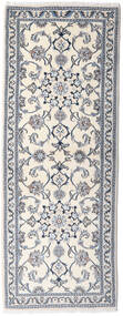 Nain Alfombra 76X201 Oriental Hecha A Mano Beige/Gris Claro (Lana, Persia/Irán)