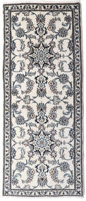 Nain Alfombra 81X191 Oriental Hecha A Mano Gris Claro/Blanco/Crema (Lana, Persia/Irán)