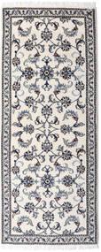 Nain Alfombra 77X190 Oriental Hecha A Mano Gris Claro/Beige (Lana, Persia/Irán)