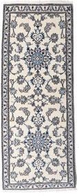 Nain Alfombra 76X197 Oriental Hecha A Mano Beige/Gris Oscuro (Lana, Persia/Irán)