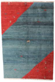 Gabbeh Rustic Alfombra 203X305 Moderna Hecha A Mano Azul/Óxido/Roja (Lana, Persia/Irán)