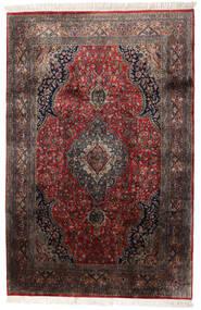 Keshan Indo Alfombra 184X278 Oriental Hecha A Mano Marrón Oscuro/Rojo Oscuro (Lana, India)