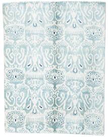 Sari Pura De Seda Alfombra 153X200 Moderna Hecha A Mano Blanco/Crema/Azul Claro (Seda, India)