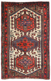 Hamadan Alfombra 85X135 Oriental Hecha A Mano Rojo Oscuro/Negro (Lana, Persia/Irán)