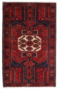 Hamadan Alfombra 80X130 Oriental Hecha A Mano Rojo Oscuro (Lana, Persia/Irán)