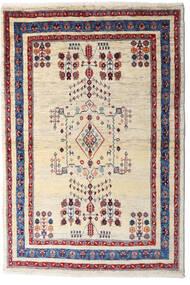 Loribaft Persia Alfombra 98X145 Moderna Hecha A Mano Beige/Púrpura Oscuro (Lana, Persia/Irán)