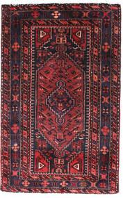 Hamadan Alfombra 90X140 Oriental Hecha A Mano Negro/Rojo Oscuro (Lana, Persia/Irán)