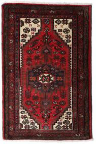 Hamadan Alfombra 80X125 Oriental Hecha A Mano Marrón Oscuro/Rojo Oscuro (Lana, Persia/Irán)