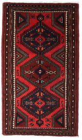 Hamadan Alfombra 75X135 Oriental Hecha A Mano Marrón Oscuro/Rojo Oscuro (Lana, Persia/Irán)