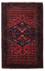 Hamadan Alfombra 83X135 Oriental Hecha A Mano Rojo Oscuro (Lana, Persia/Irán)