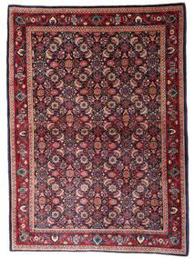 Sarough Alfombra 110X155 Oriental Hecha A Mano Azul Oscuro/Rojo Oscuro (Lana, Persia/Irán)