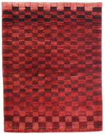 Loribaft Persia Alfombra 108X141 Moderna Hecha A Mano Rojo Oscuro/Óxido/Roja (Lana, Persia/Irán)