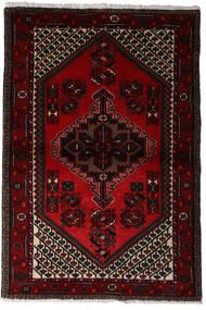 Hamadan Alfombra 97X145 Oriental Hecha A Mano Rojo Oscuro (Lana, Persia/Irán)
