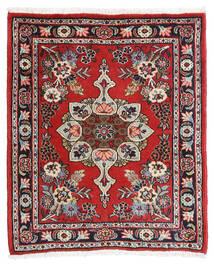 Hamadan Shahrbaf Alfombra 65X80 Oriental Hecha A Mano Óxido/Roja/Marrón Oscuro (Lana, Persia/Irán)
