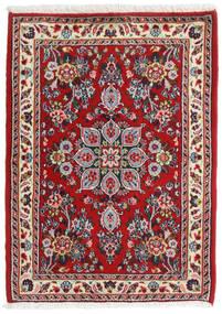 Hamadan Shahrbaf Alfombra 67X92 Oriental Hecha A Mano Rojo Oscuro/Beige (Lana, Persia/Irán)