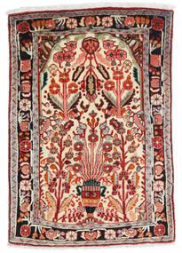 Hamadan Alfombra 67X100 Oriental Hecha A Mano Beige/Rojo Oscuro (Lana, Persia/Irán)