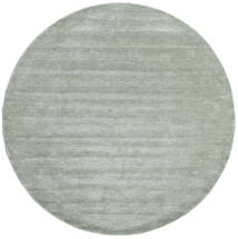 Handloom - Soft Teal Alfombra Ø 250 Moderna Redonda Verde Claro/Azul Turquesa Grande (Lana, India)