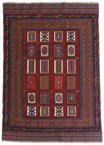 Kilim Golbarjasta Alfombra 115X140 Oriental Tejida A Mano Rojo Oscuro/Gris Oscuro (Lana, Afganistán)