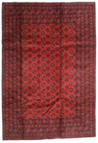Afghan Alfombra 202X289 Oriental Hecha A Mano Rojo Oscuro/Óxido/Roja (Lana, Afganistán)