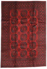 Afghan Alfombra 196X284 Oriental Hecha A Mano Rojo Oscuro/Marrón Oscuro (Lana, Afganistán)
