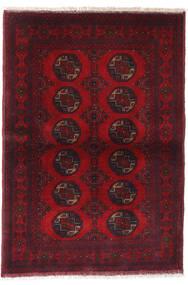 Afghan Khal Mohammadi Alfombra 99X144 Oriental Hecha A Mano Rojo Oscuro/Roja (Lana, Afganistán)