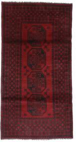 Afghan Alfombra 101X197 Oriental Hecha A Mano Rojo Oscuro (Lana, Afganistán)