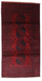 Afghan Alfombra 103X196 Oriental Hecha A Mano Rojo Oscuro (Lana, Afganistán)